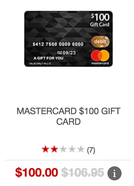 Staples (Online Only) $100 Mastercard Gift Card, activation fees waived - limit 3