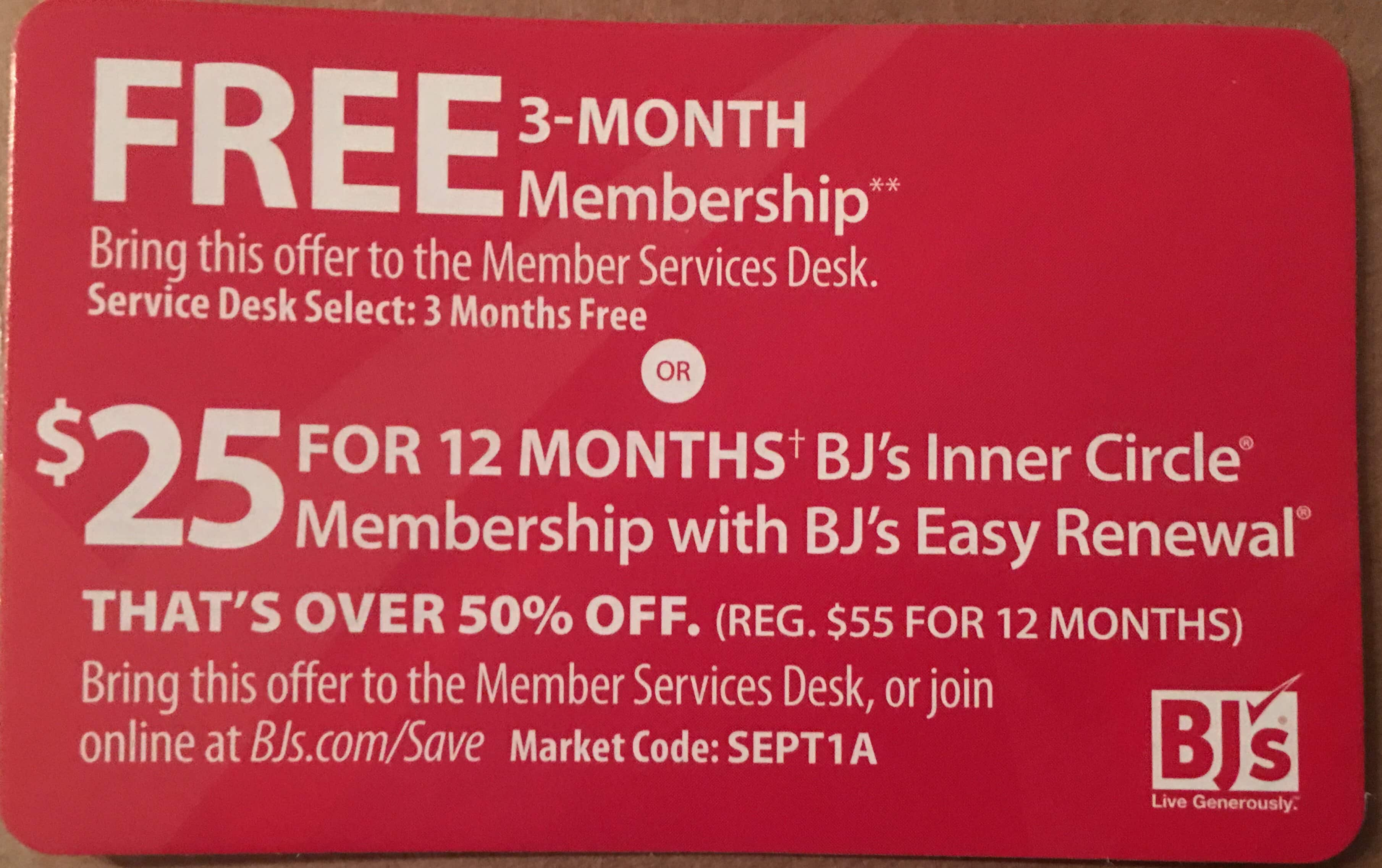 photo relating to Bjs One Day Pass Printable named BJs Wholesale Club: No cost 3-thirty day period Subscription, In just-Club Indicator