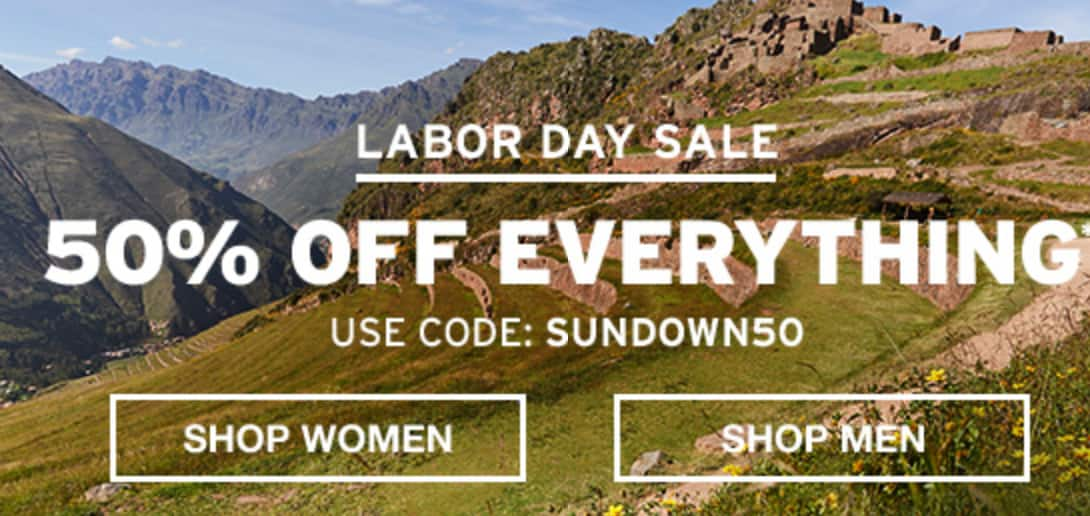 5e697f4436ee0 Eddie Bauer: Last Day for 50% OFF Entire Purchase (In Store and Online) -  includes Stowaway Daypacks | EXTRA 50% OFF Clearance; Some Exclusions Apply