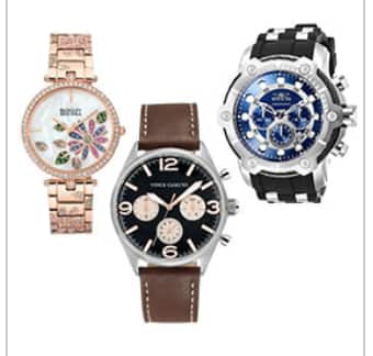 ff6991d86 Costco: Watches - Men's Vince Camuto Leather Strap Black Dial OR ...