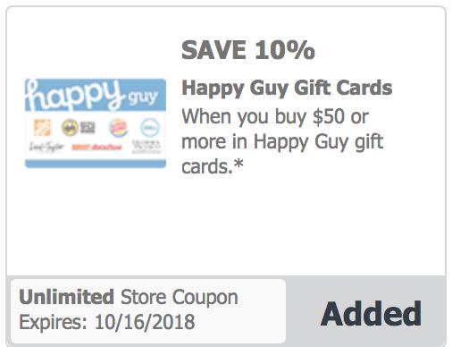 Safeway Vons Albertson J4u Offer Save 10 On Hy Guy Gift Card