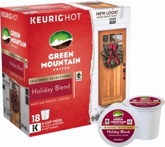 Keurig Green Mountain - Holiday Blend K-Cup Pods (18-Pack) at Best Buy: $6.50 ($.361 per cup) Free In-Store Pickup