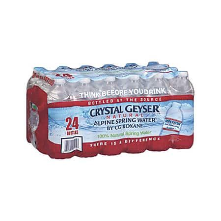 24-Pack of 16.9oz Crystal Geyser Spring Water: 11 for $11.60, 2 for $3 + Free Store Pickup