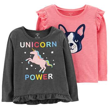 Costco: 2-Pack Carter's Shirts $11.99; Clearance on Boys'/Girl's Character Kids' Hoodies $9.97 & More w/ Free Shipping