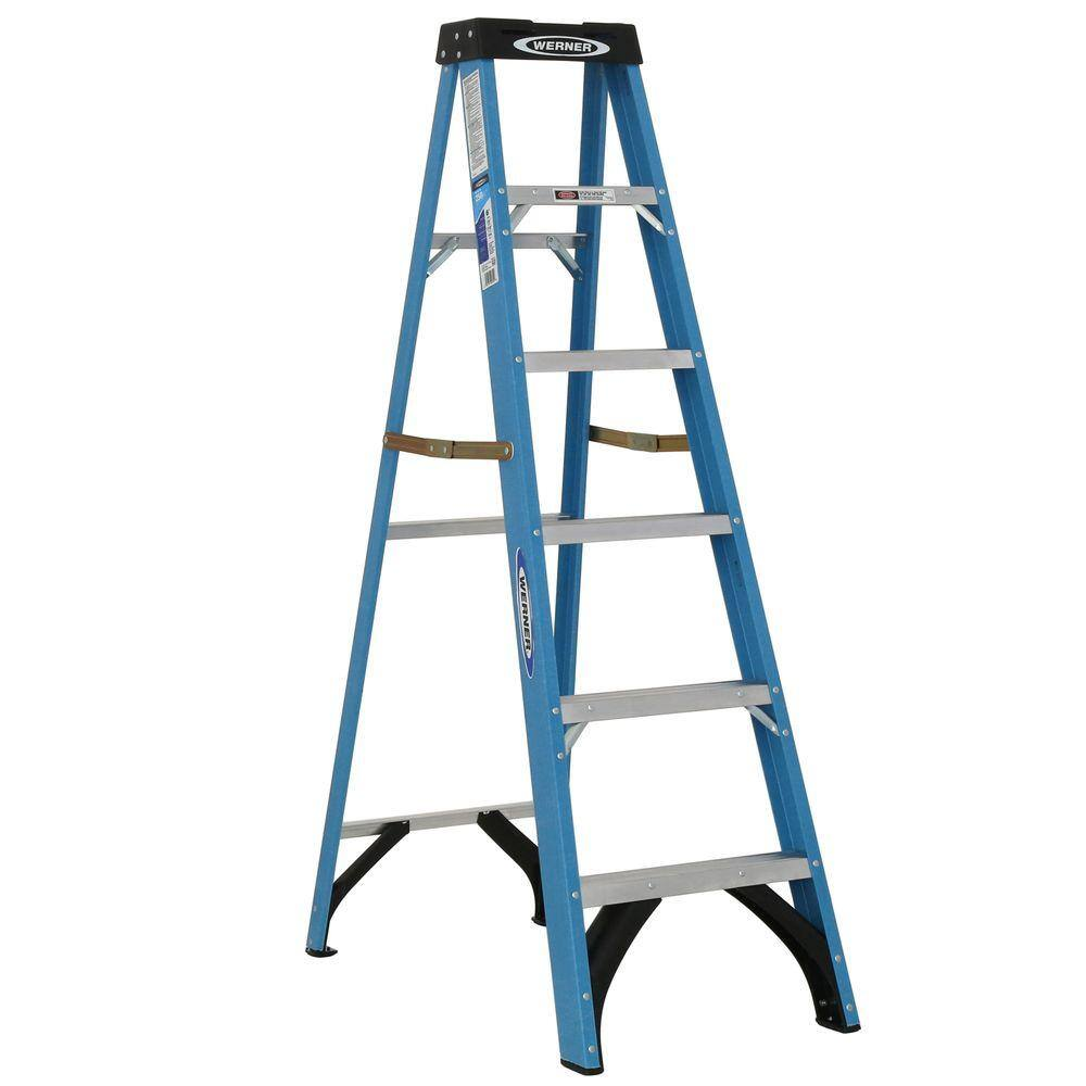 Werner 6 ft Fiberglass Step Ladder $59.98, 8 ft Aluminum Step Ladder $64.98 & More at Home Depot w/ Free In-Store Pickup (YMMV)