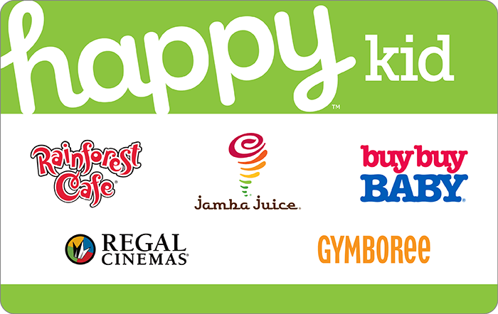 $25 Happy Gift Card (works at various retailers in-store: Burger King, Jamba Juice, Panera Bread & More) $20, $50 Happy Dining (Red Lobster, Texas de Brazil & More) $40 at Staples