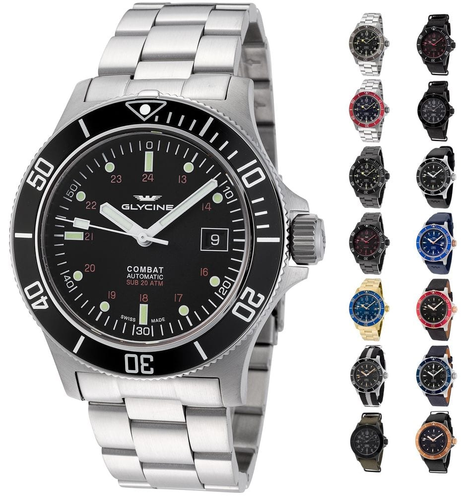 Men's Glycine 3908 Combat Sub Automatic Watch, 42mm at eBay $334.99 w/ Free Shipping
