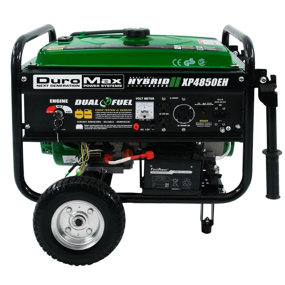 DuroMax XP4850EH Hybrid Portable Propane/Gas Powered Generator, NEW $254.99 AC at eBay w/ Free Shipping