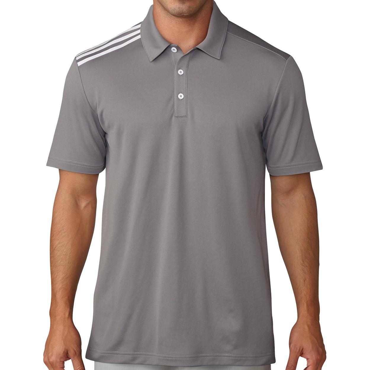 adidas Golf Men's Essential 3 Stripe Polo Shirt (Various Colors) $15 w/ Free Shipping