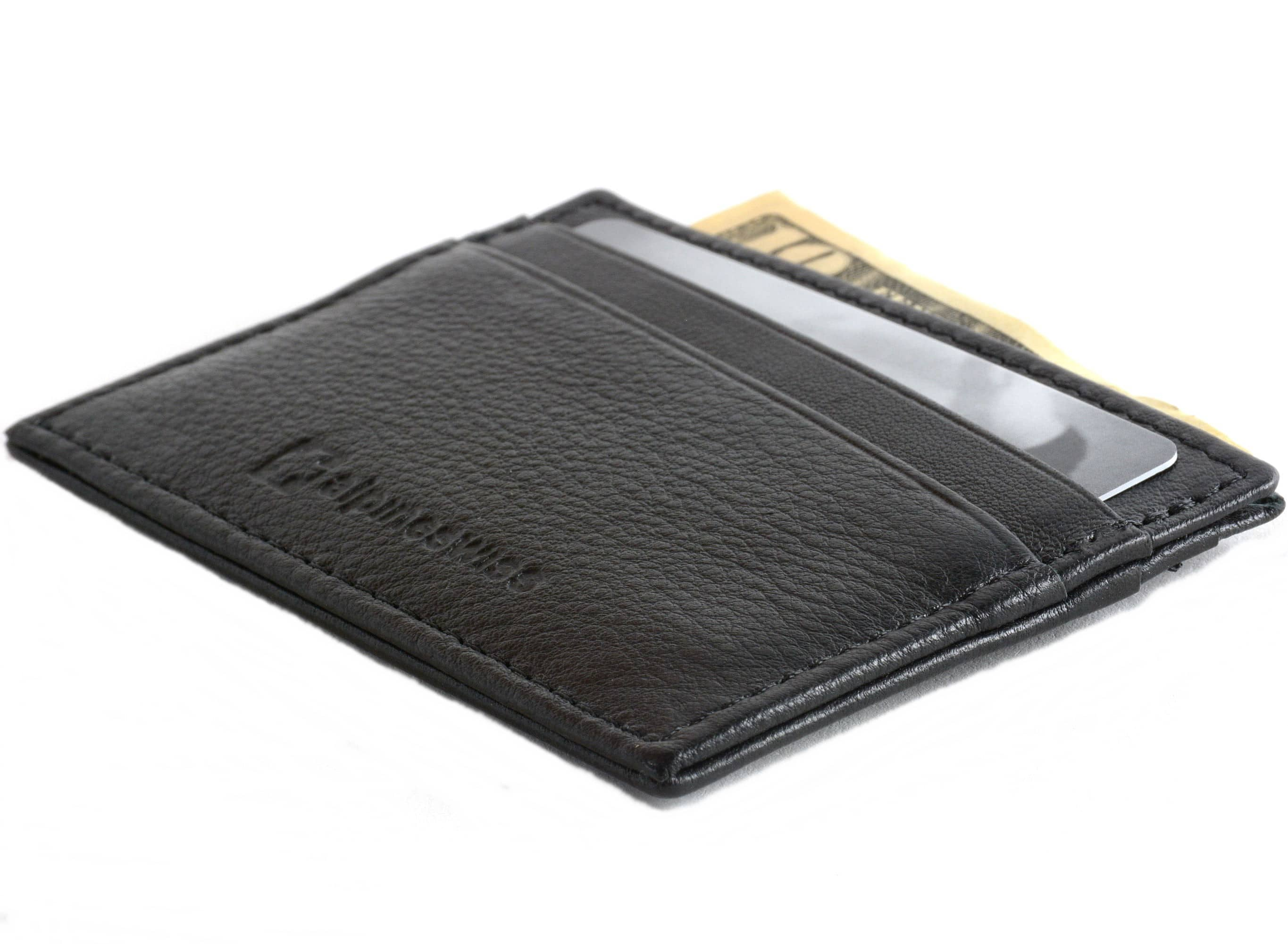 Alpine Swiss Minimalist Slim Thin Leather Front Pocket Wallet $5 or Less w/ Free Shipping And More