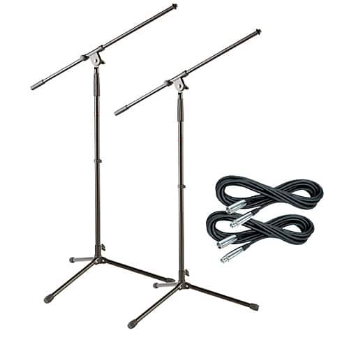 2-Pack Musician's Gear Tripod Microphone Stand w/ 20 Foot XLR Mic Cable at Guitar Center $24.99 w/ Free In Store Pickup