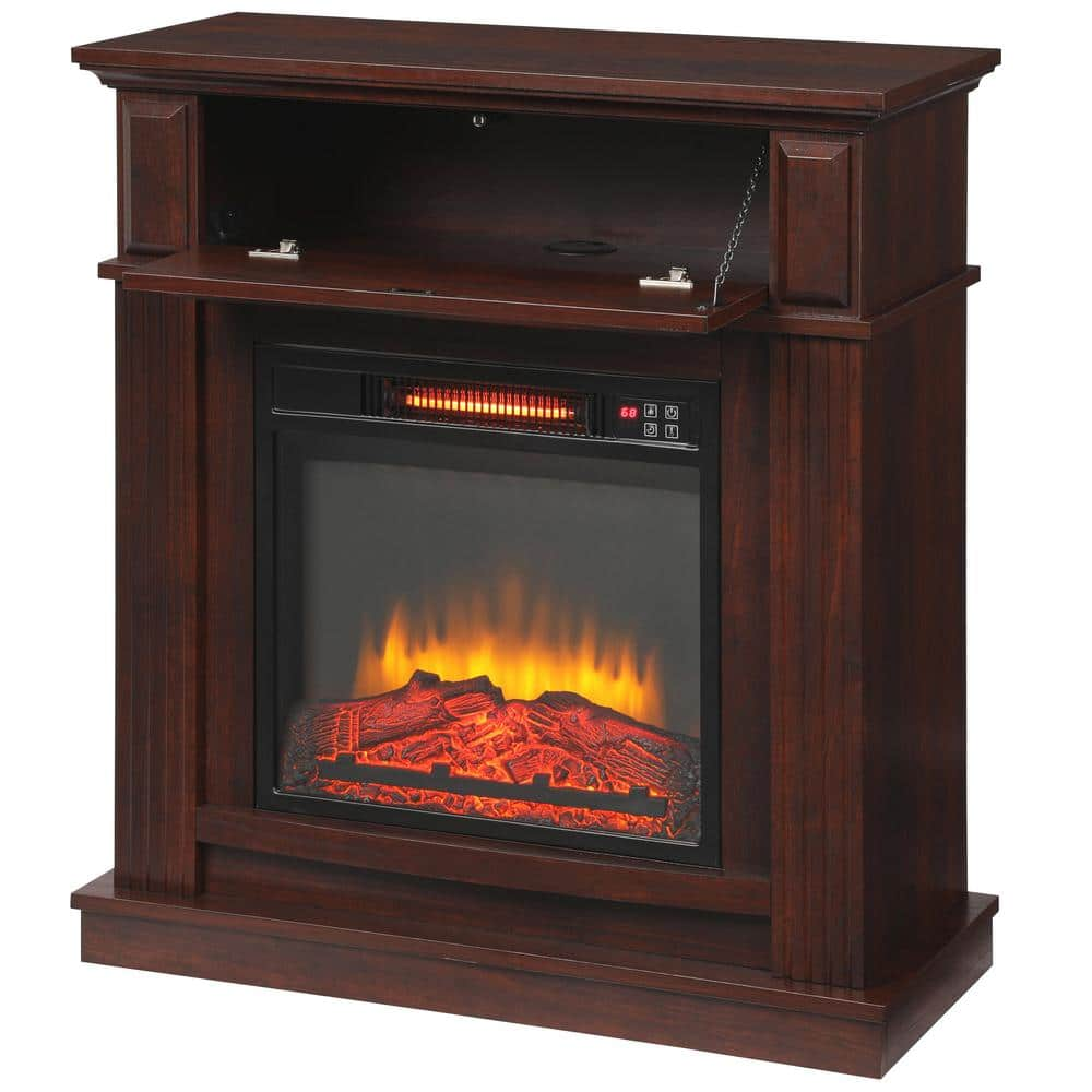 Hampton Bay 31 Infrared Electric Fireplace 149 Home Decorators
