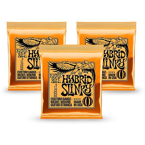 3-Pack Ernie Ball Nickel Slinky, Earthwood Guitar Strings (Various) $10, 2-Pack D'Addario EXP Guitar Strings $20 w/ Free In-Store Pickup at Guitar Center