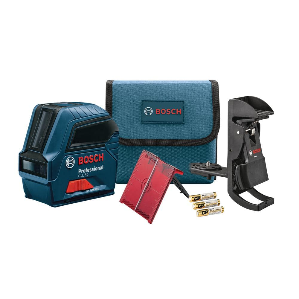 Bosch 50 ft. Self Leveling Cross Line Laser Level, Factory Reconditioned (GLL 50-RT) $59.50 or $47.60 AC (New Google Express Customers) + Free Shipping