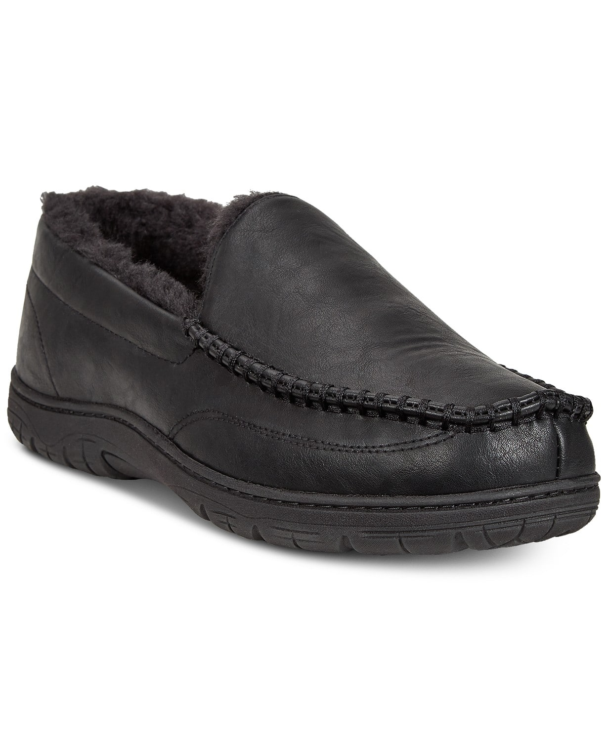 Men's Moccasin Toe Slip-On Slippers by 32 Degrees (Various Styles/Colors) at Macy's $9.96 + Free Store Pickup