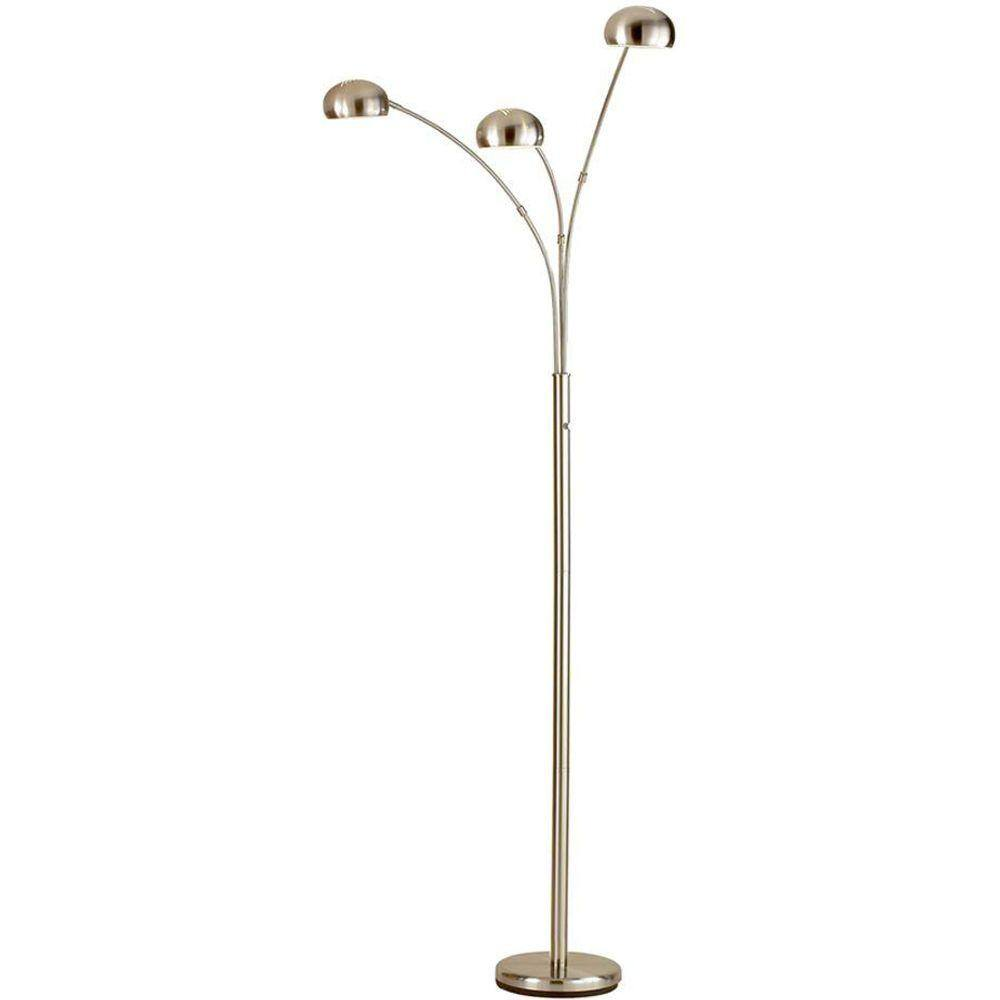 84 in. Adesso Domino Arc Floor Lamp in Satin Steel at Home Depot $51.75 + Free Shipping **Clearance