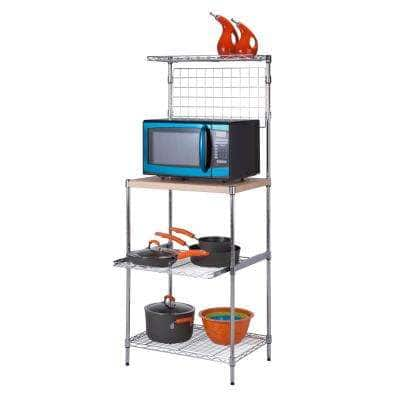 """Honey-Can-Do 4-Tier Baker's Rack w/ Wood Top $51.19 AC, 5-Tier 72"""" Adjustable Shelving Unit in Chrome $56.89 AC + Free S/H at Home Depot"""