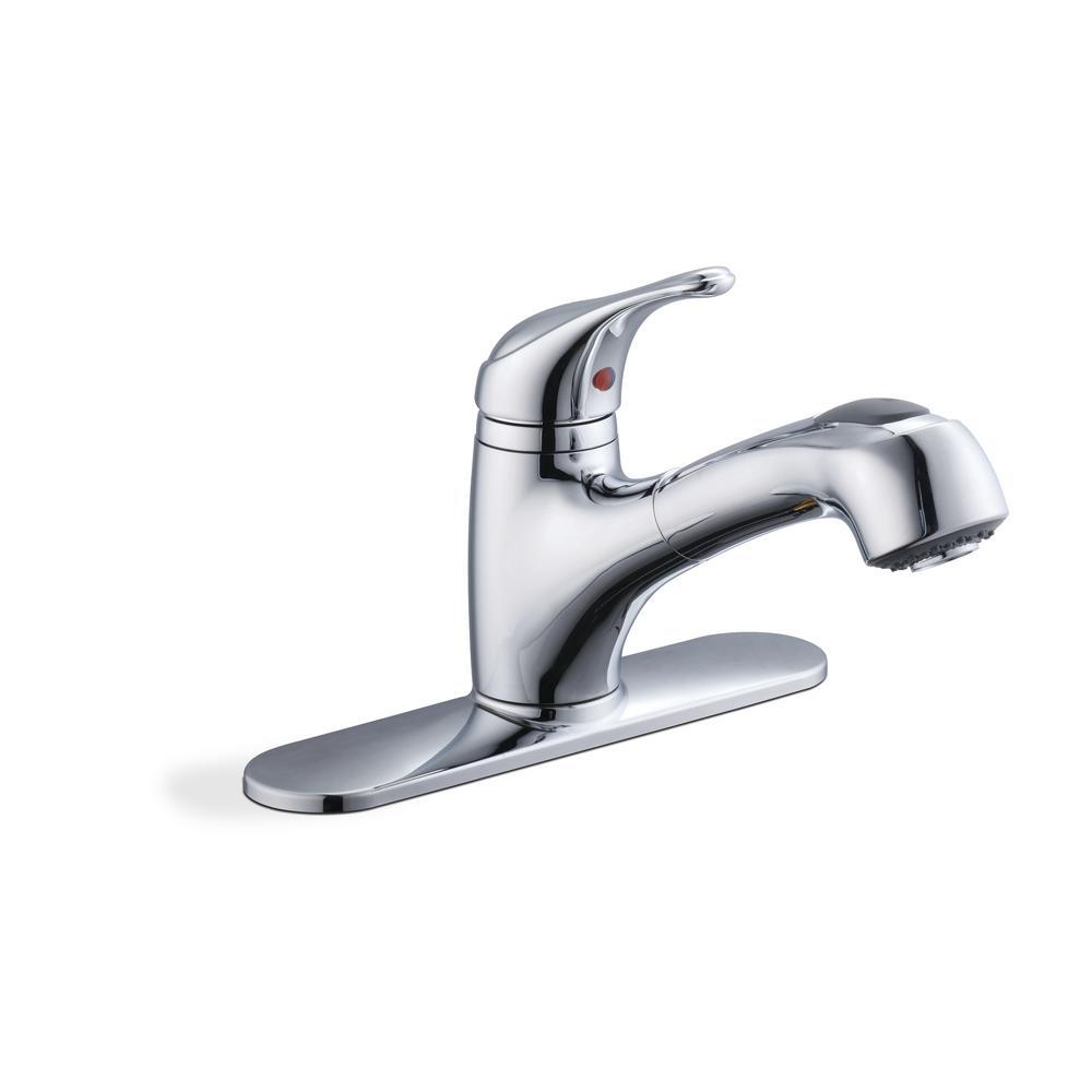 Kitchen Faucets: Glacier Bay Carla Single-Handle (Chrome) $34.50 & More + Free Sore Pickup