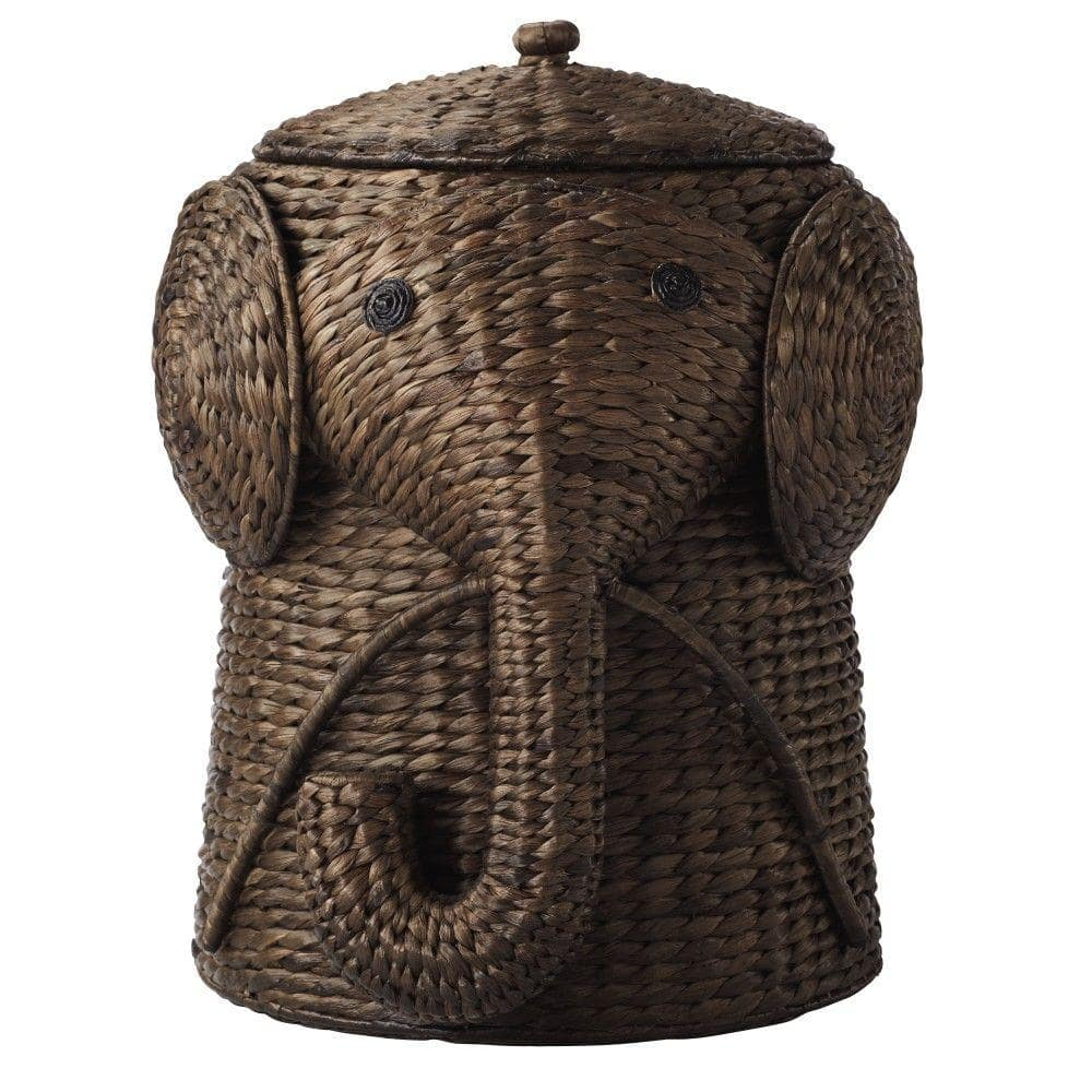 """Home Decorators Collection - Elephant Laundry Hamper, Brown, 18""""  $44.50, 20"""" $54.50 + Free Store Pickup"""