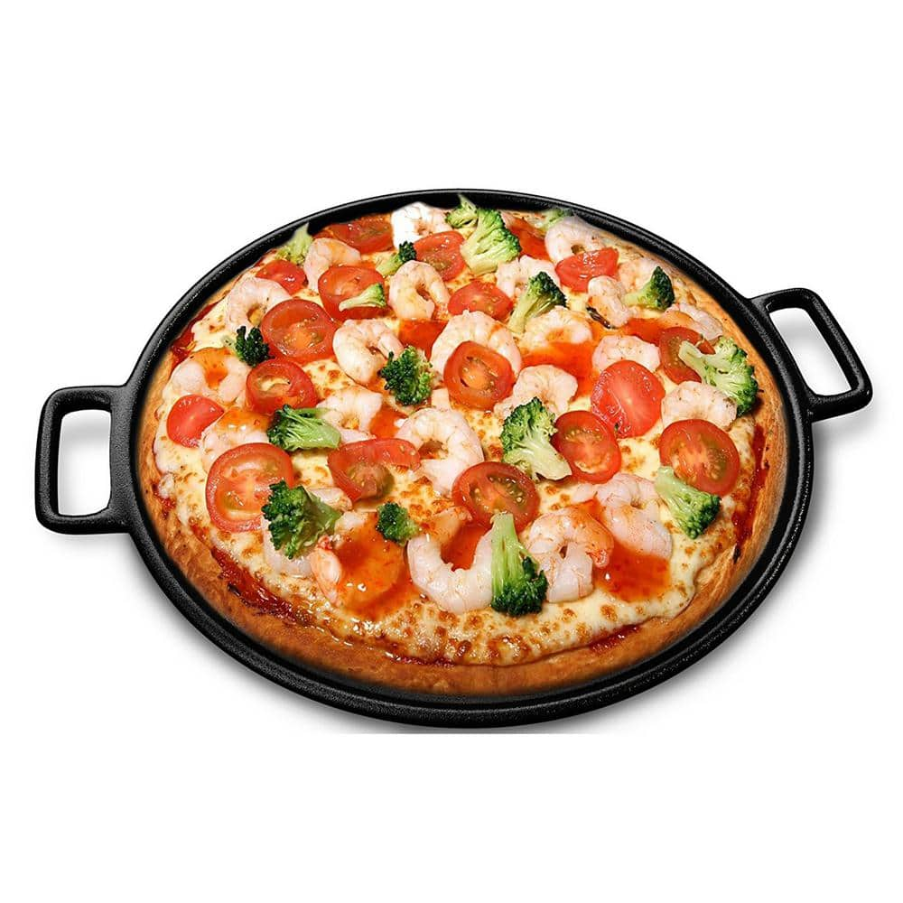 "Home-Complete 14"" Cast Iron Pizza Pan $15.88 + Free Store Pickup at Home Depot/Walmart, FS for Prime"
