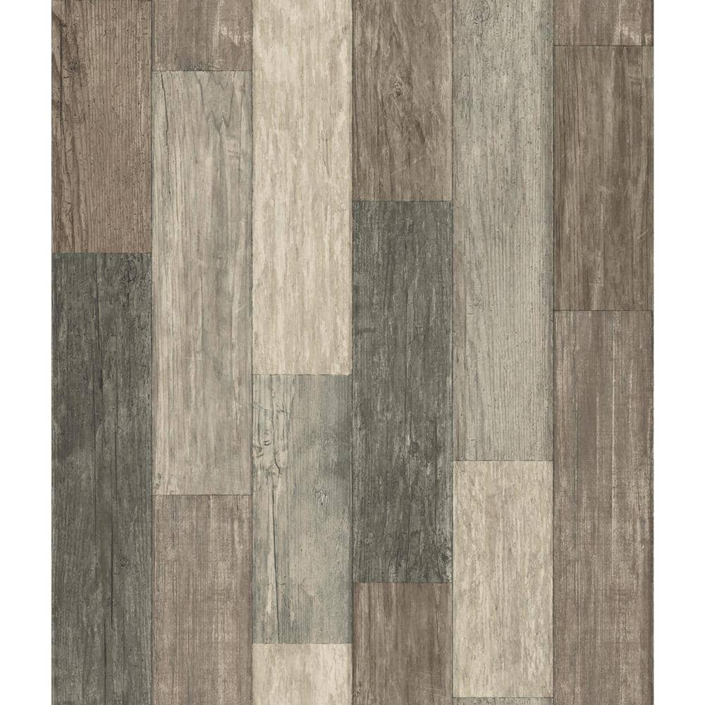 Roommates Peel Stick Wallpaper Weathered Plank Various Shades 21 Shiplap White 2159 Free Shipping
