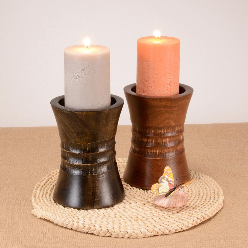 "Candles at Home Depot: 6"" Villacera Mango Wood Pillar $15, Set of 2 River of Goods - Poetic Wanderlust $25.45, Litton Lane from $39 + Free Store Pickup"