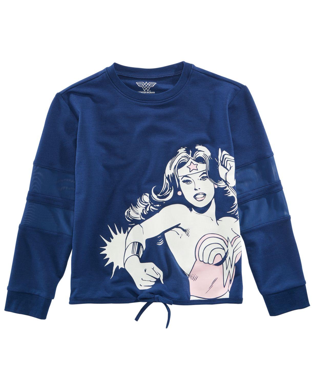 Macy's: Girls' Wonder Women Crewneck Top $5, Boys' LEGO Darth Vader Hoodie $5, DC Comics: Zip-Front Hoodies, Sweatshirt from $10 + Free Store Pickup and More