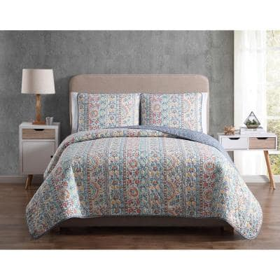 Morgan Home - MF Reversible Quilt Sets: Twin from $16.83, Full/Queen $22.90, King $25.38 | 8-Piece MF Bedding Set, Full/Queen $38.49, more + Free Store Pickup at Home Depot