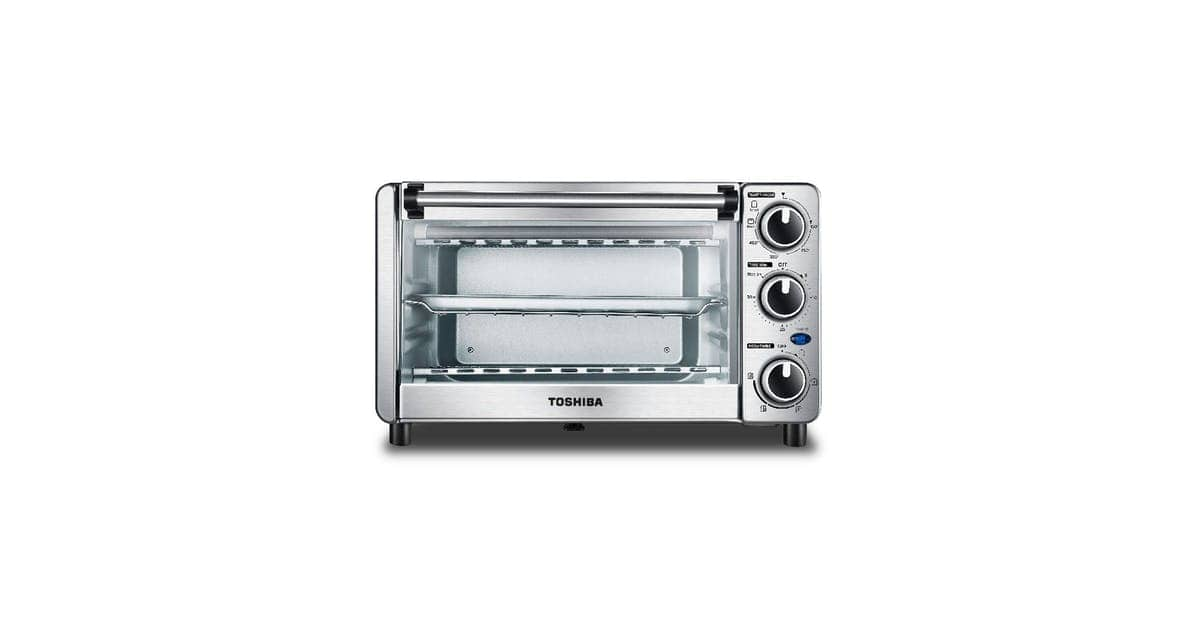 Toshiba 6-Slice Stainless Convection Pizza Toaster Oven, Black or Stainless Steel $56.99 + Free Shipping