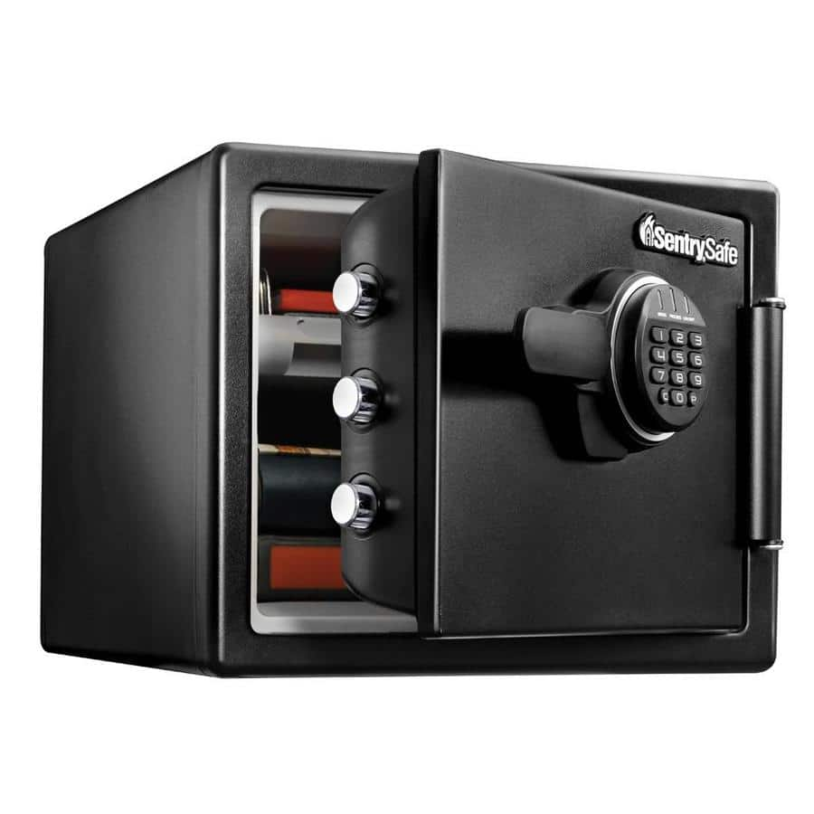 SentrySafe 0.81-cu ft Fire-Resistant, Waterproof Safe w/ Electronic Keypad (SFW082ET) at Lowe's $89.98 w/ Free Store Pickup *YMMV