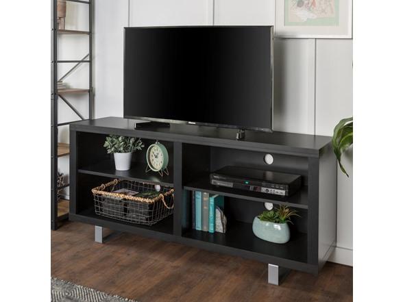 "58"" Walker Edison Modern TV Console w/ Metal Legs $80.99 + Free S/H for Prime"