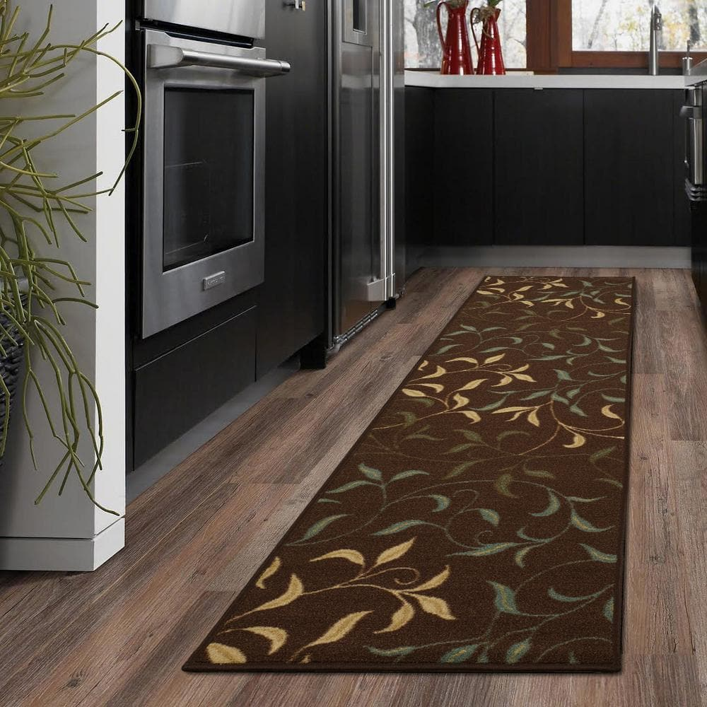 Ottomanson  2 ft. x 5 ft. Runner Rug from $8.07, Ottohome Collection Contemporary Leaves  2 ft. x 5 ft. Runner Rug From $9.92 + Free Store Pickup at Home Depot