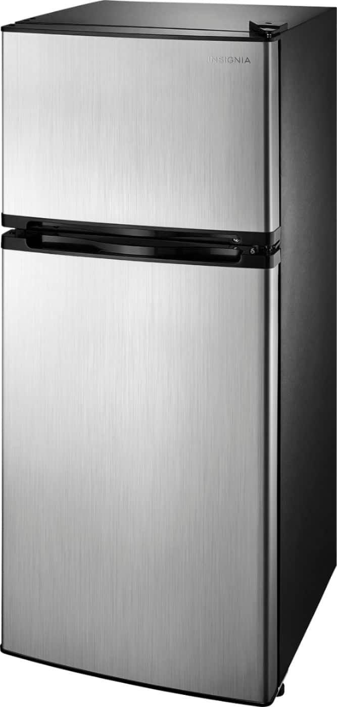 Fabulous Insignia 4 3 Cu Ft Top Freezer Refrigerator Stainless Home Interior And Landscaping Transignezvosmurscom