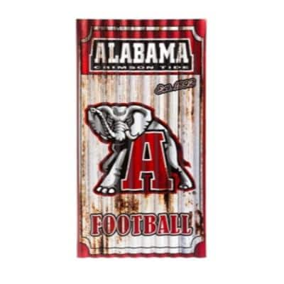 """Team Sports America - Colleges & Various NFL, MLB Sport Teams Corrugated Metal Wall Art (21.75"""" L x 11.88"""" W) from $22.75 + Free Store Pickup at Home Depot"""