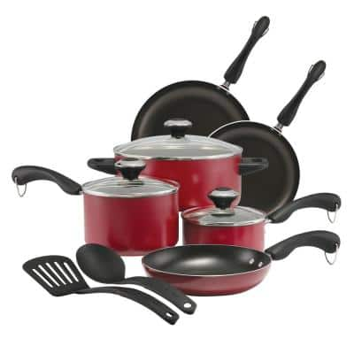 Paula Deen Cookware Sets: 11-Piece Non-Stick Cookware Set - Red $55.34, 12-Piece Signature Stainless Steel $69.99 and more + Free S/H