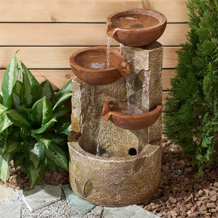 "Mainstays 22"" Brown Bowl Cascading Tier Water Fountain $47.26 + Free Shipping"