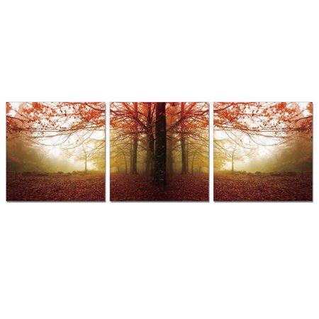 "Furinno 3-Panel 20"" x 60"" Autum Leaves Printed Canvas Wall Art $29.27 + Free Store Pickup at Home Depot/Walmart, FS at Amazon"