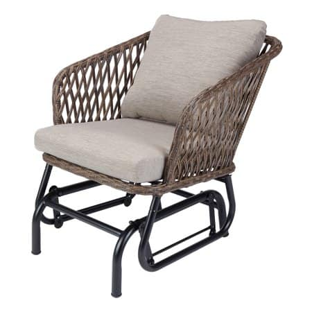 Mainstays Battle Creek Outdoor Wicker Glider Chair $51.19 + Free Shipping