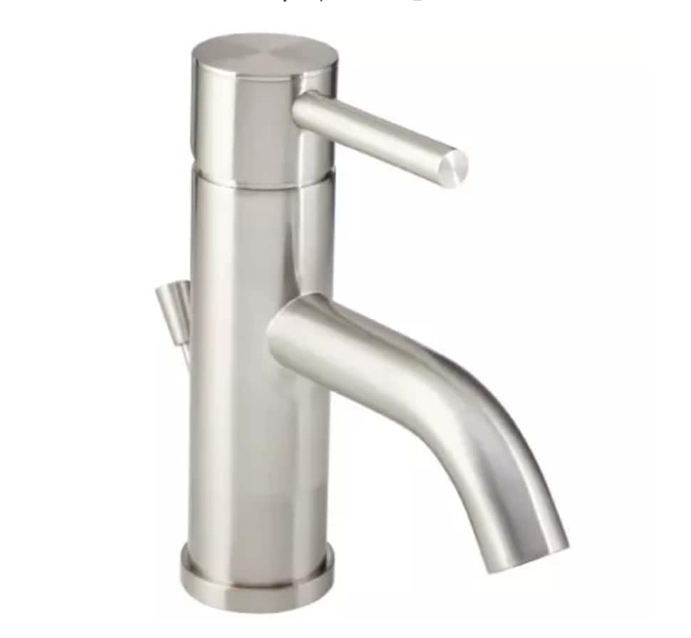 Mirabelle Edenton Single Hole Bathroom Faucet w/ Pop-Up Drain Assembly, Brushed Nickel $49.21 + Free Shipping