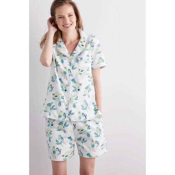 Women's 2-Piece Cotton Flannel Pajama Short Set by The Company Store $16 + Free Store Pickup at Home Depot