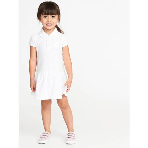 Old Navy: Uniform - Toddler Girls' Polo Dress or Toddler Boys' Chino Shorts $4.80 | Boys' Twill Joggers $6 | Girls' Moisture-Wicking Polo $6, Twill Jumper $7.20 + Free Store Pickup