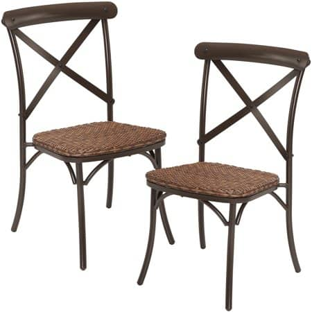 Set of 2 Better Homes & Gardens Camrose Farmhouse Chairs w/ Woven Wicker Seat $39.99 + Free Shipping