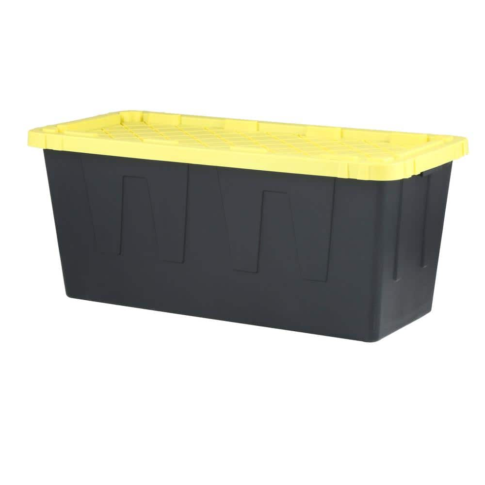 HDX 55 Gal. Tough Storage Tote, Black $18.98 + Free Store Pickup