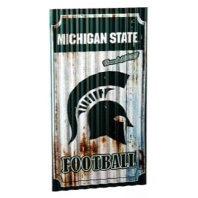 """Team Sports America - Various NCAA, NFL, MLB, NHL Teams Corrugated Metal Wall Art (21.75"""" L x 11.88"""" W) from $22.75 + Free Store Pickup at Home Depot"""