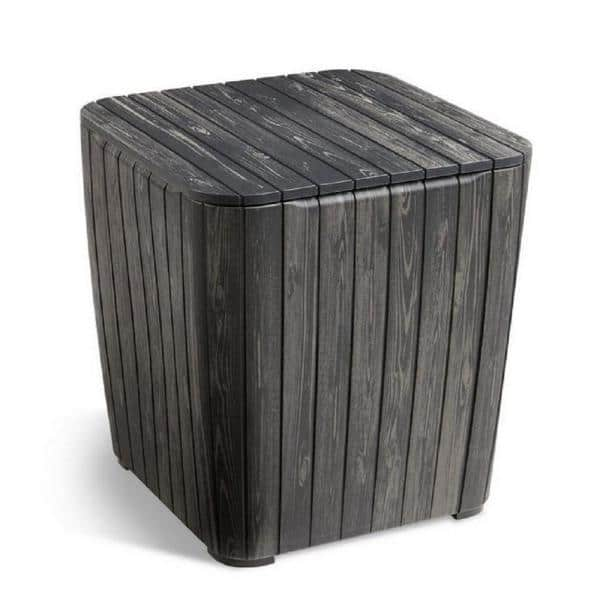 Keter 8 Gal. Luzon Storage Box / Side Table, Graphite $20 + Free Store Pickup at Select Home Depot