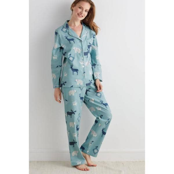 The Company Store - Women's Cotton Flannel 2-Piece Long-Sleeve Pajama Set - limited sizes $19.18 + Free Store Pickup at Home Depot