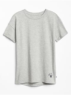 Gap Factory: Extra 15% OFF on $50+ - Girls' Power Short-Sleeve Tunic Tee $3.37 | Toddlers: Girls' Logo Pull on Shorts, Boys' Pocket Tees $4.22 + FS on $50+ and More