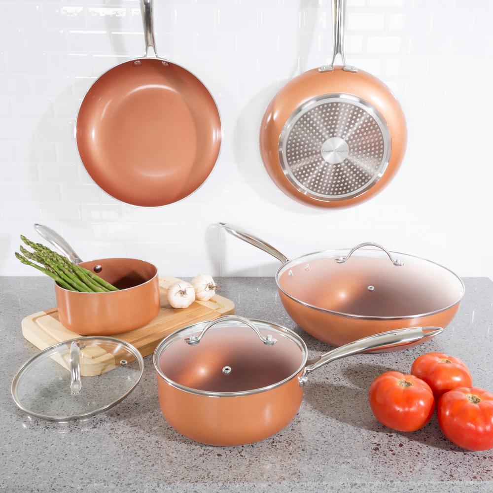 Classic Cuisine 8-Piece Nonstick Copper Aluminum Ceramic Coating Cookware Set $60.25 + Free Shipping