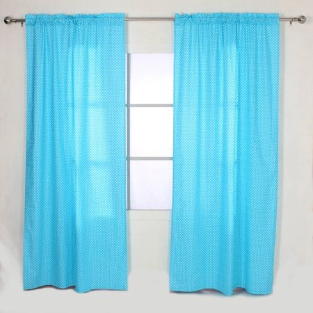 "Bacati 42"" x 84"" Single Curtain Panels: Pin Dots in Aqua $8, Yellow/Grey Zigzag $10.03, Large Dots in Black & White $11.74 + Free Store Pickup at Walmart / Free S/H for Prime"