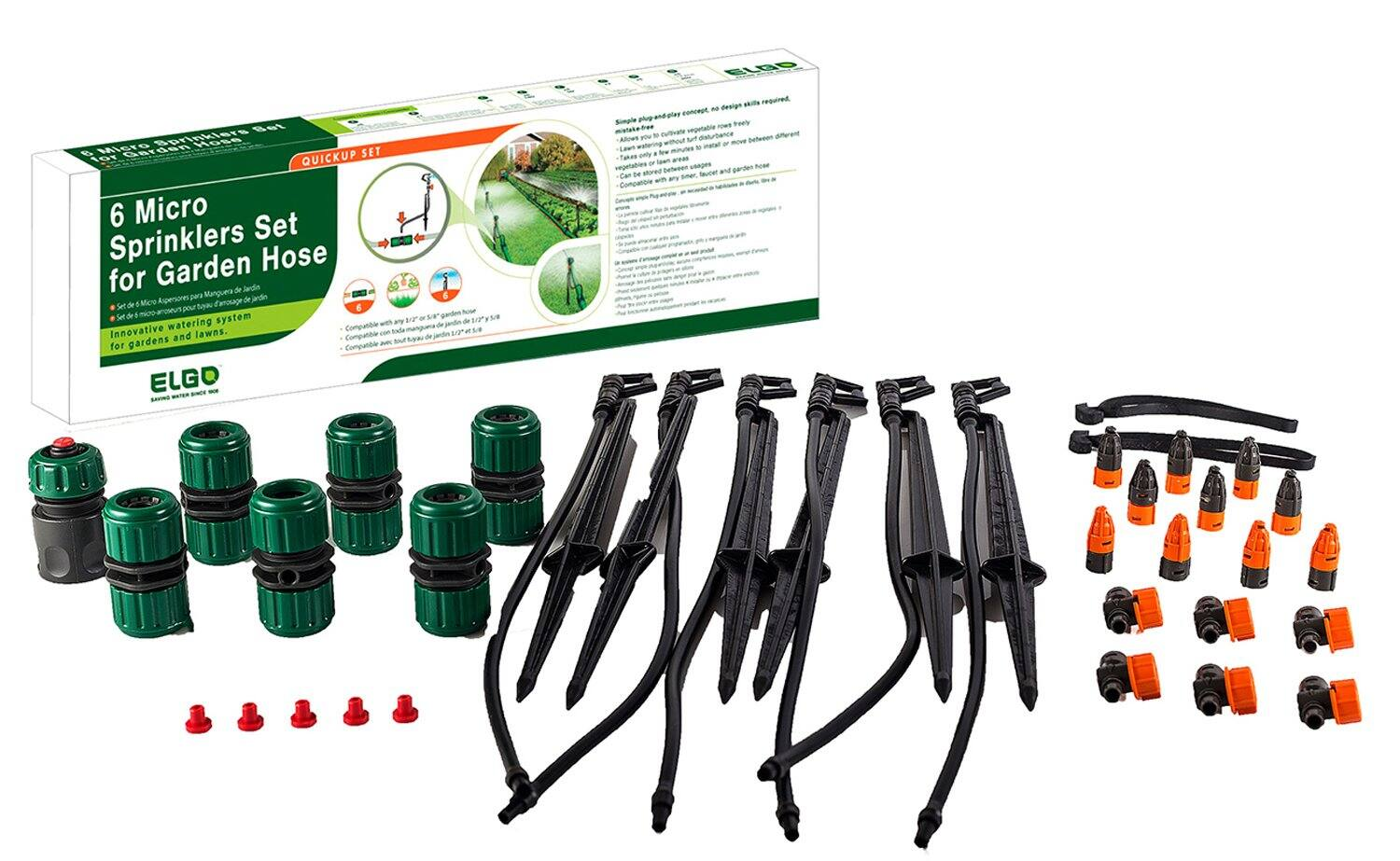 Elgo 6 Micro-Sprinklers Set $11.03 [ $8.27 AC ] + Free S/H for Prime